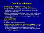 conflicts of interest41