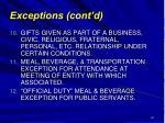 exceptions cont d61