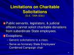 limitations on charitable solicitations g s 138a 32 b