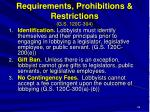 requirements prohibitions restrictions g s 120c 304