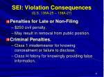 sei violation consequences g s 138a 25 138a 27