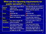 what are the reporting requirements for public servants g s 120c 800 b d
