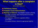 what happens after a complaint is filed g s 138a 12 f m