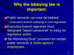 why the lobbying law is important
