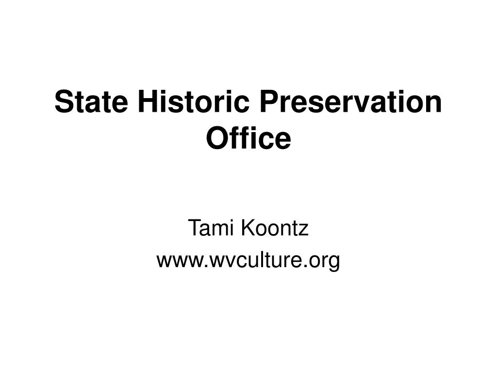 state historic preservation office l.