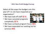 2011 non profit budget survey6