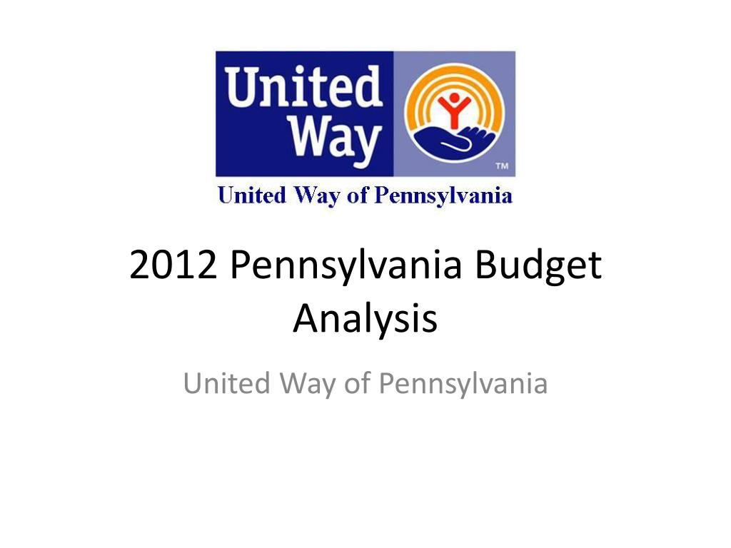 2012 pennsylvania budget analysis l.
