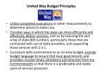 united way budget principles15