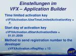 einstellungen im vfx application builder13