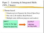 paper 2 listening integrated skills 30 2 hours