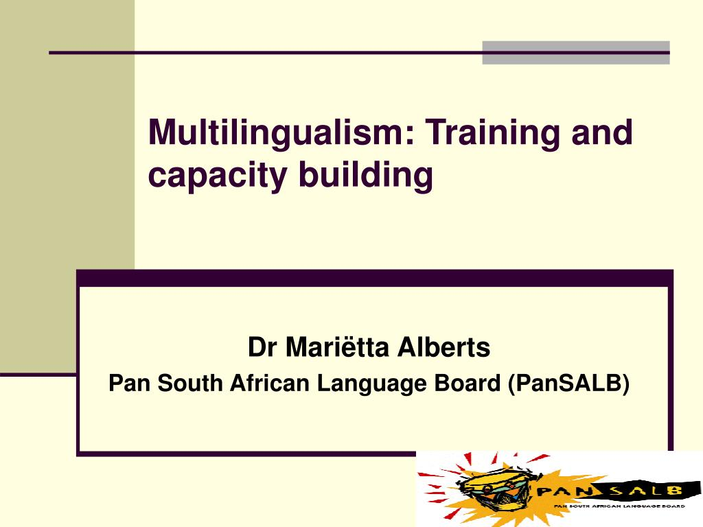 multilingualism training and capacity building l.