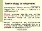 terminology development