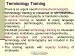 terminology training