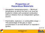 properties of hazardous materials12