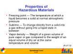 properties of hazardous materials17