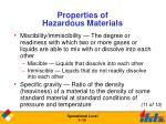 properties of hazardous materials19