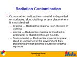 radiation contamination