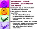performance concern ineffective communication with parents
