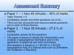 assessment summary26