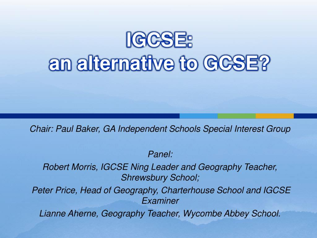igcse an alternative to gcse l.