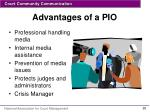 advantages of a pio
