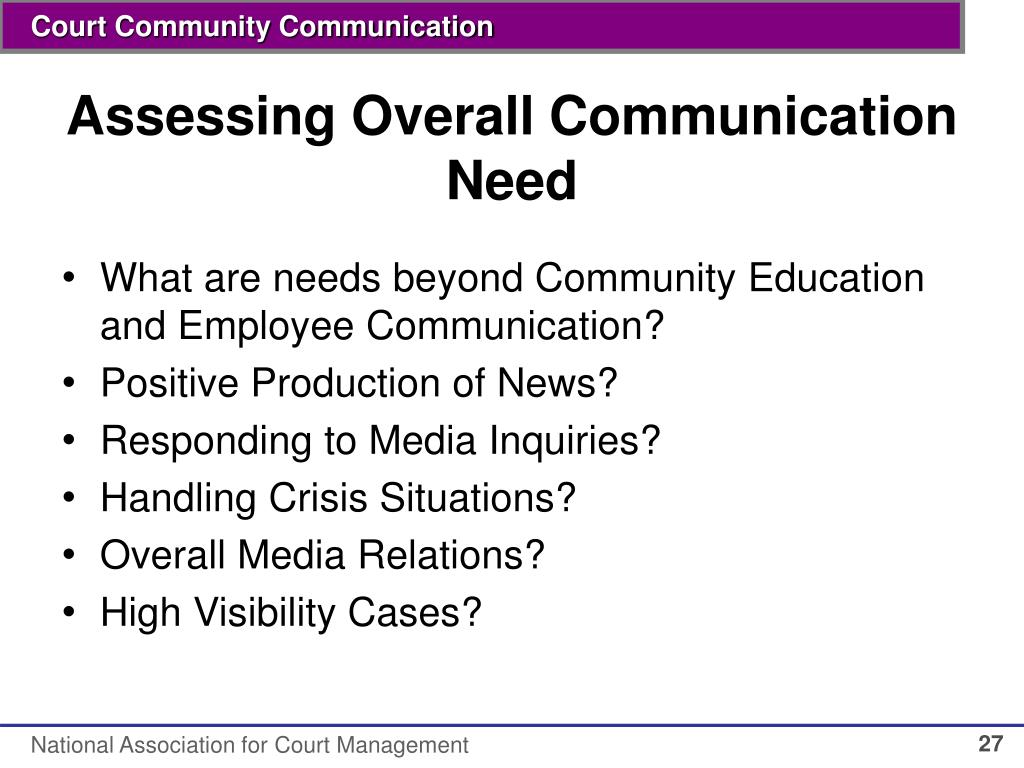 Assessing Overall Communication Need