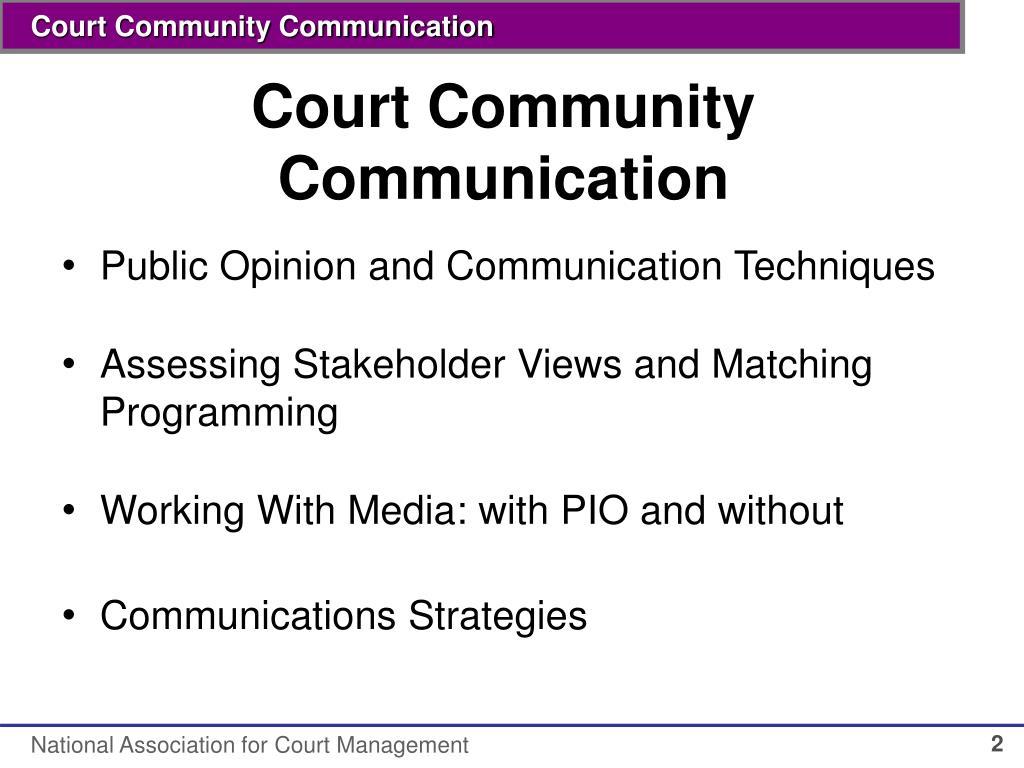 Court Community Communication