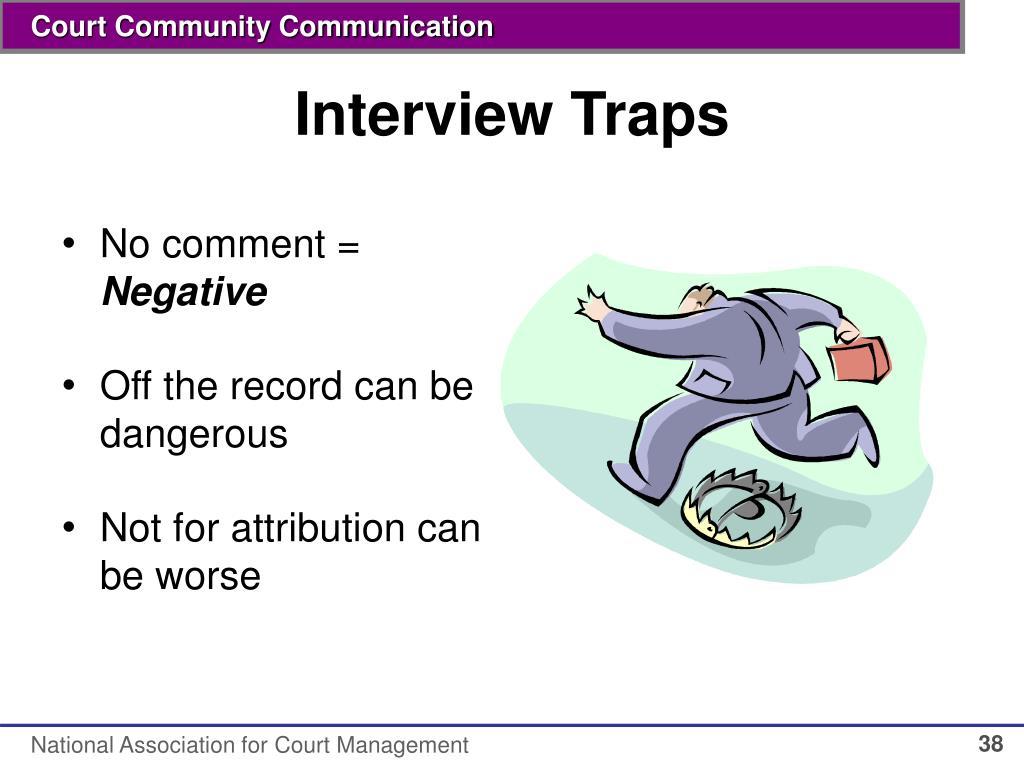 Interview Traps