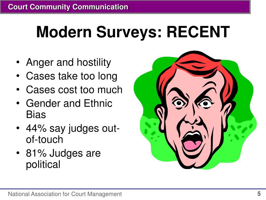 Modern Surveys: RECENT