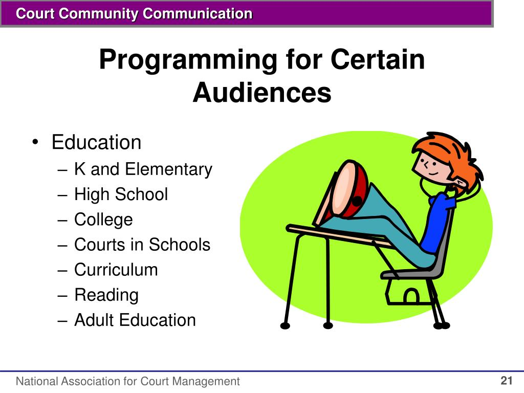 Programming for Certain Audiences