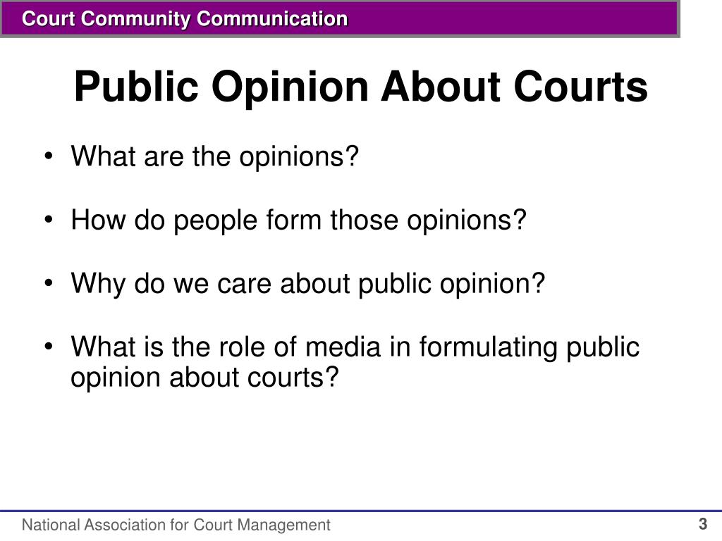 Public Opinion About Courts