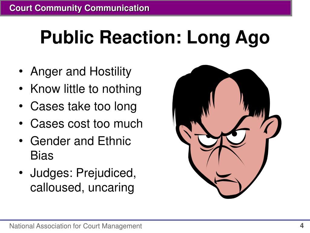 Public Reaction: Long Ago