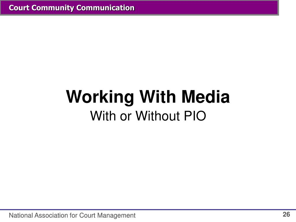 Working With Media