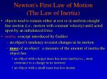 newton s first law of motion the law of inertia