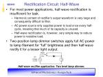 rectification circuit half wave12