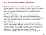 3 4 1 business context analysis