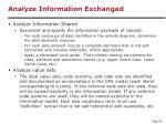 analyze information exchanged52