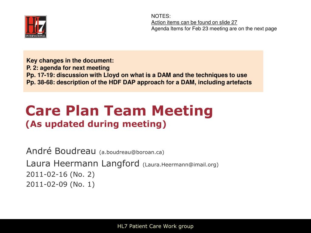 care plan team meeting as updated during meeting l.