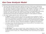 use case analysis model