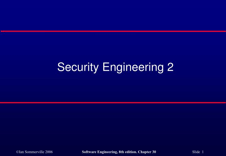 security engineering 2 n.
