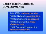 early technological developments