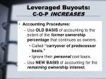 leveraged buyouts c o p increases