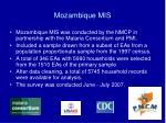 mozambique mis