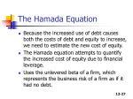 the hamada equation