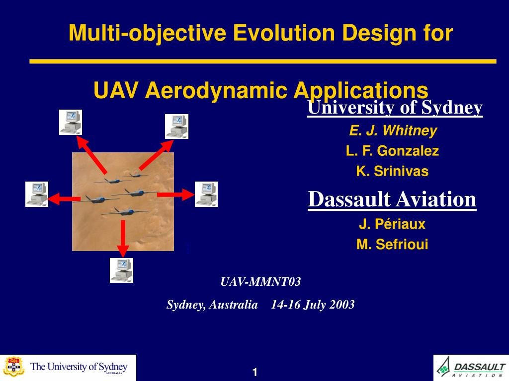 multi objective evolution design for uav aerodynamic applications l.