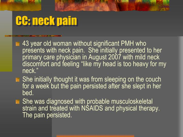 Cc neck pain