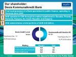 our shareholder dexia kommunalkredit bank