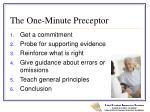 the one minute preceptor