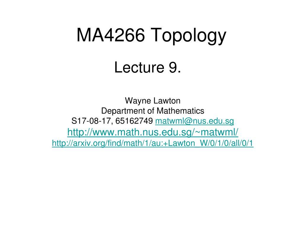 ma4266 topology l.