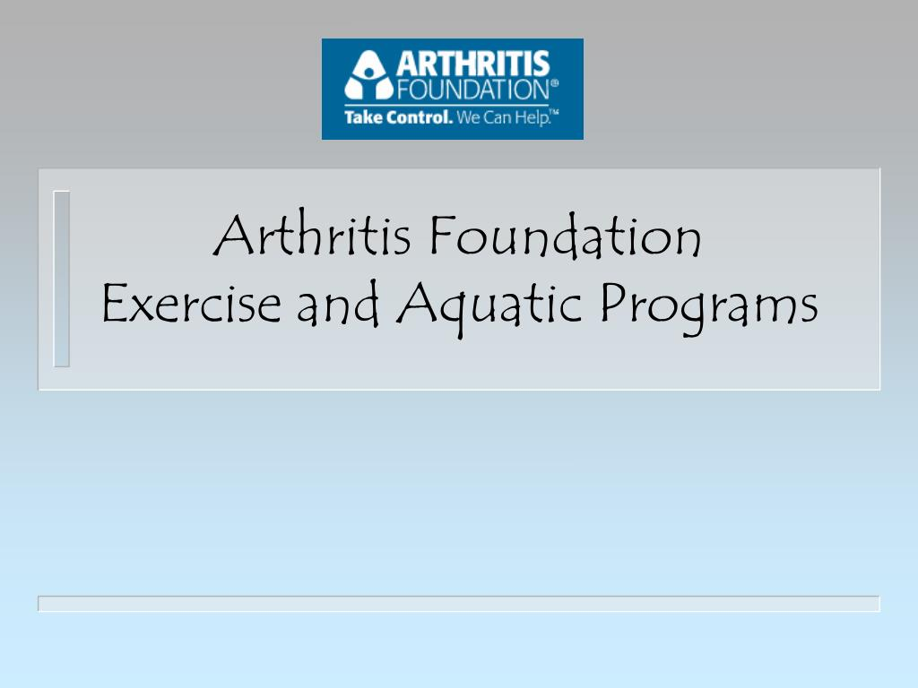 arthritis foundation exercise and aquatic programs l.